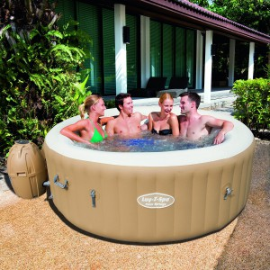 Lay-Z-Spa Palm Springs Inflatable Hot Tub Size